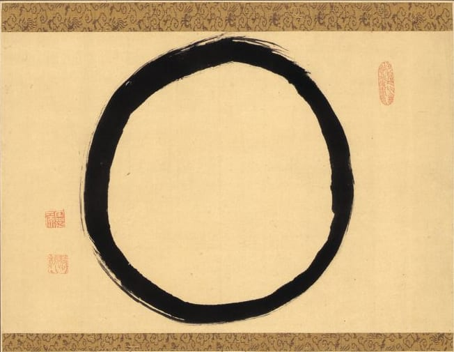 Hanging Scroll with Ensō by Reigen Eto